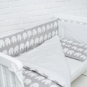Комплект в детскую кроватку  Elephants
