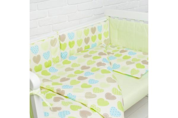Комплект в детскую кроватку Hearts