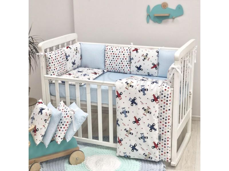 Комплект в детскую кроватку Аэроплан