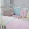 Комплект в детскую кроватку Bunny (розовый)