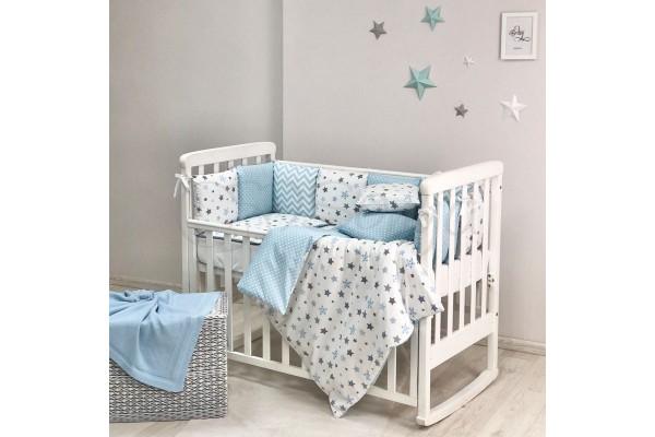 Комплект в детскую кроватку Stars blue