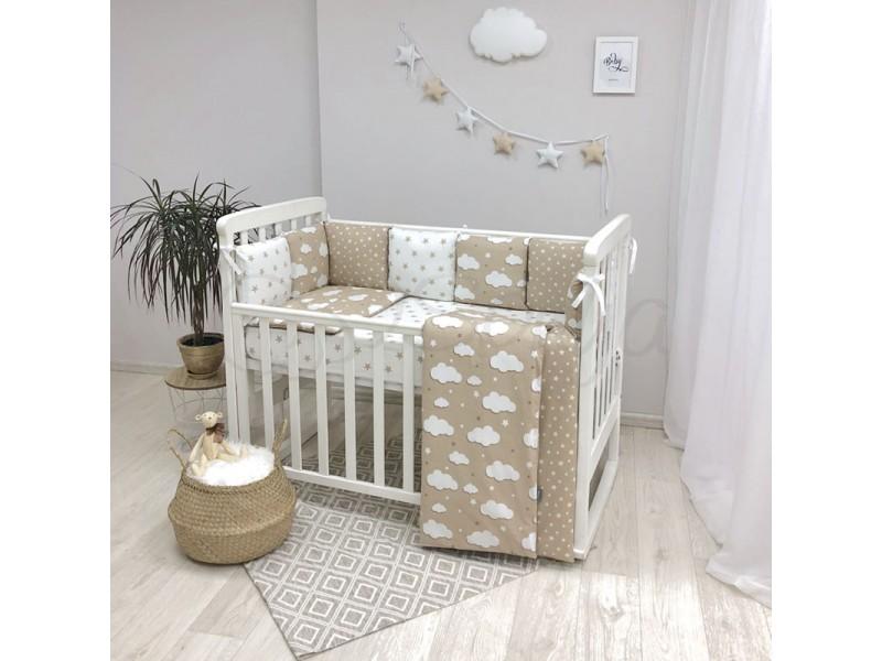 Комплект в детскую кроватку Beige Clouds