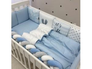 Комплект в детскую кроватку Blue geometry