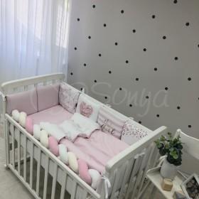 Комплект в детскую кроватку Pink geometry
