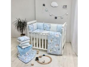 Комплект в детскую кроватку Cats (blue)