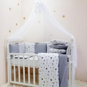 Комплект в детскую кроватку Stars Gray
