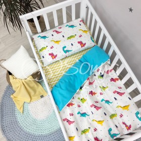 Сменный комплект в детскую кроватку Динозавры