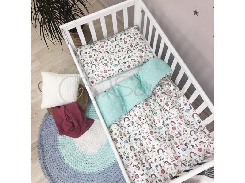 Сменный комплект в детскую кроватку Единорог