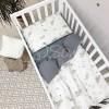 Сменный комплект в детскую кроватку Облака серые