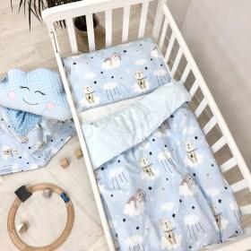 Сменный комплект в детскую кроватку Cats blue
