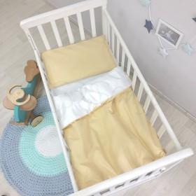 Сменный комплект в детскую кроватку горчичный