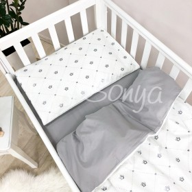 Сменный комплект в детскую кроватку Короны серебро