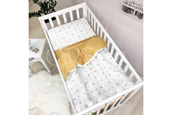 Сменный комплект в детскую кроватку Короны золотистый