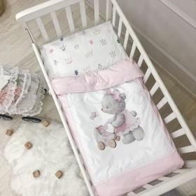 Сменный комплект в детскую кроватку Bear pink