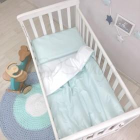 Сменный комплект в детскую кроватку мятный
