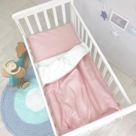 Сменный комплект в детскую кроватку пудровый