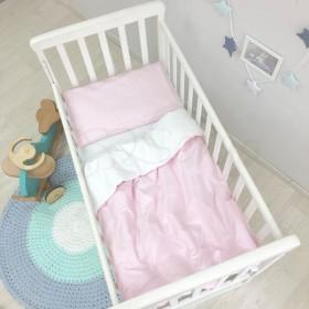 Сменный комплект в детскую кроватку розовый