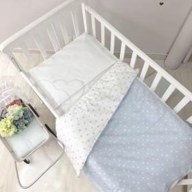 Сменный комплект в детскую кроватку Heart голубой