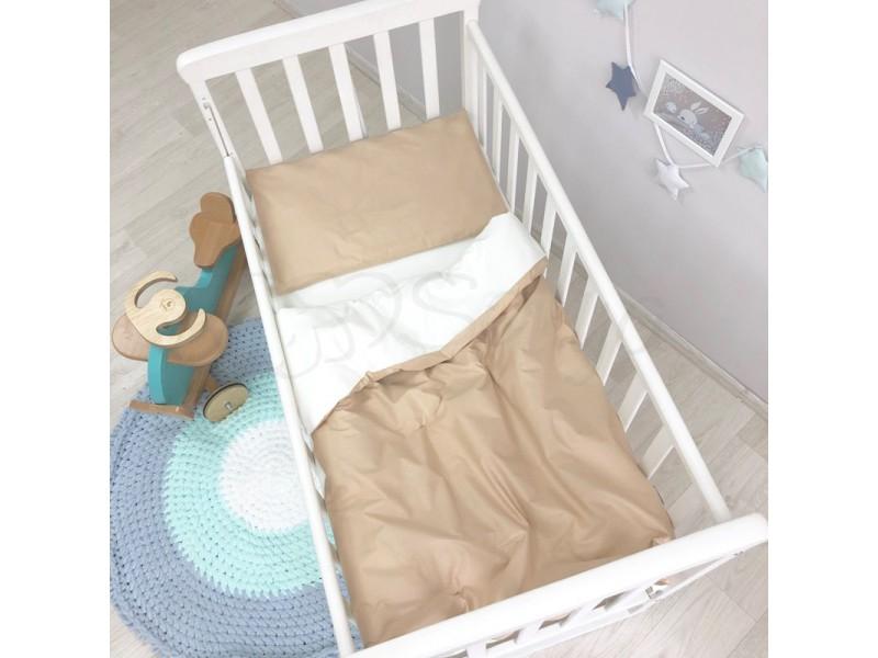 Сменный комплект в детскую кроватку шоколадный