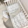 Сменный комплект в детскую кроватку Stars gray