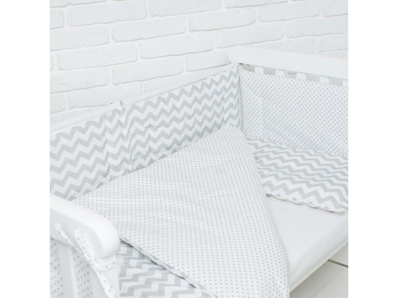 Комплект в детскую кроватку Wave gray