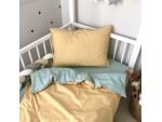 Сменный комплект постельного белья подростковый горчица/мята