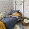 Сменный комплект постельного белья подростковый серый/джинс