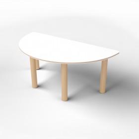Стол полукруглый с покрытием hpl-пластика