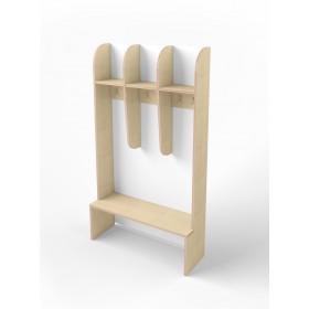 Раздевалка Simple small с открытыми полочками