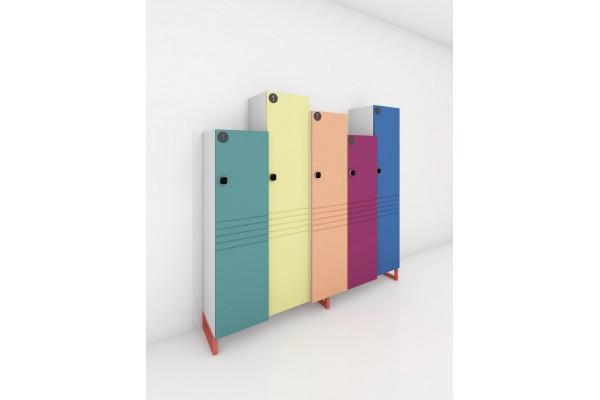 Шкаф для раздевалки из 5 секций