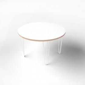 Стол круглый с покрытием hpl-пластика и металлическими ножками