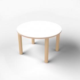 Стол круглый с покрытием hpl-пластика
