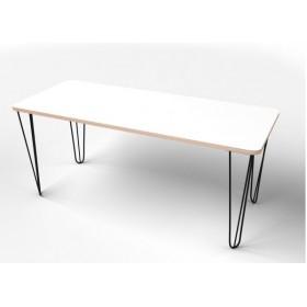 Стол прямоугольный  с покрытием hpl-пластика и металлическими ножками