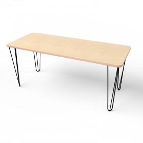 Стол прямоугольный с металлическими ножками