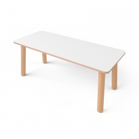 Стол прямоугольный с покрытием hpl-пластика 200*60см