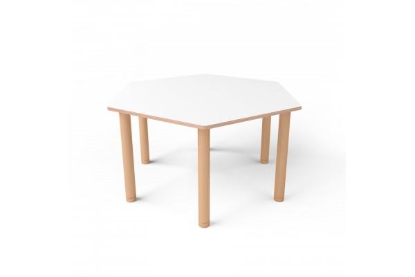 Стол шестиугольный с покрытием hpl-пластика