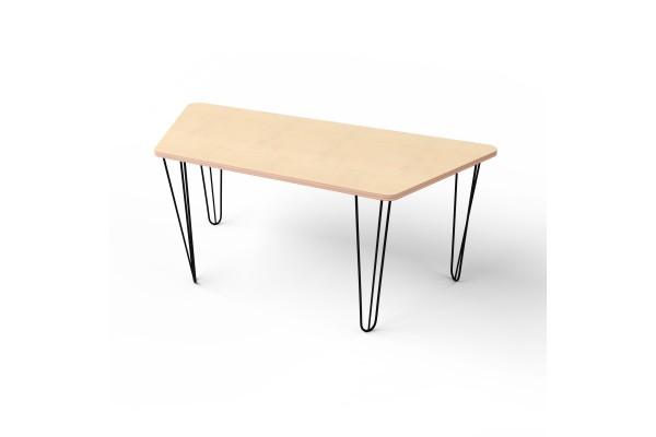 Стол трапеция с металлическими ножками