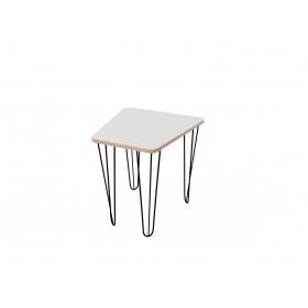 Стол трапеция малый с покрытием hpl-пластика и черными металлическими ножками
