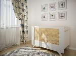 Кроватка Brownie белый