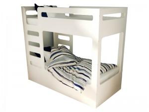 Кровать двухъярусная cuBED белый (с ящиком)