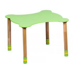 Стол фигурный зеленый