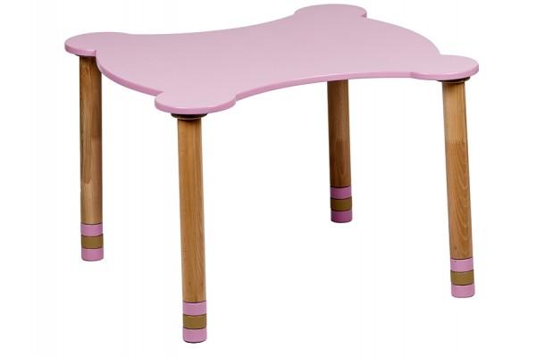 Стол фигурный розовый