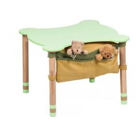 Стол фигурный с карманом зеленый