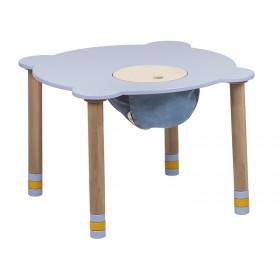 Стол круглый индиго