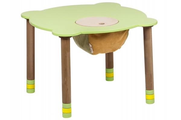 Стол круглый зеленый