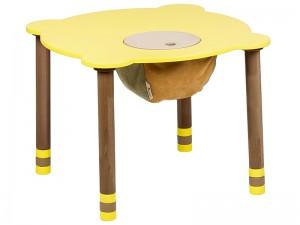 Стол круглый желтый