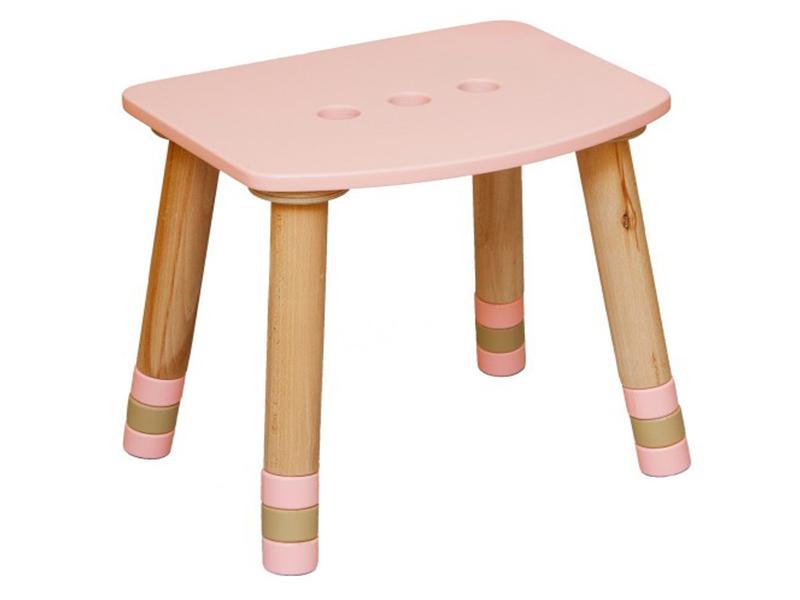 Табурет детский розовый