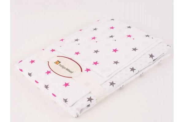 Комплект постельного белья для новорожденных Stars pink