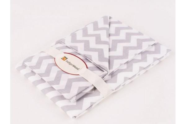 Комплект постельного белья для новорожденных Wave gray