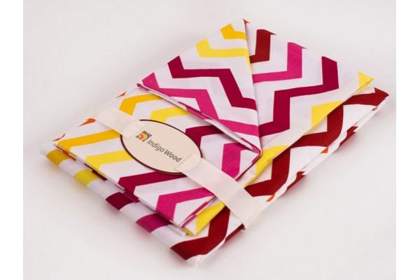 Комплект постельного белья для новорожденных Wave pink